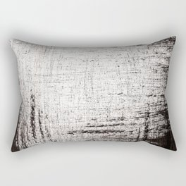 Sketchy Black and White Absrtaction Rectangular Pillow