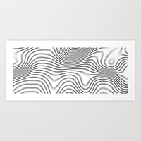 Organic Abstract 02 WHITE Art Print