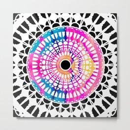 Bright Spirit Mandala Metal Print