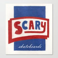 scary Canvas Prints featuring Scary by Lance Turner