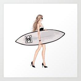 Surf fashion Art Print