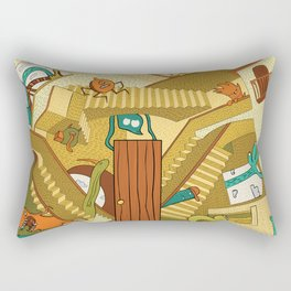 Monsters on Stairs Rectangular Pillow
