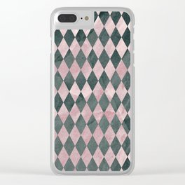 Marble Harlequin Clear iPhone Case