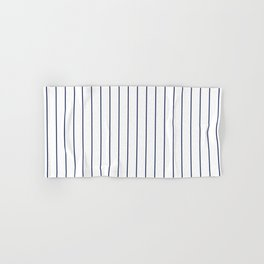 Classic Blue Baseball Stripe Lines On White Hand & Bath Towel