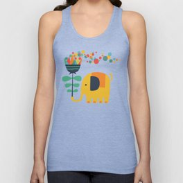 Elephant with giant flower Unisex Tank Top