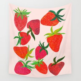 Strawberry Harvest Wall Tapestry