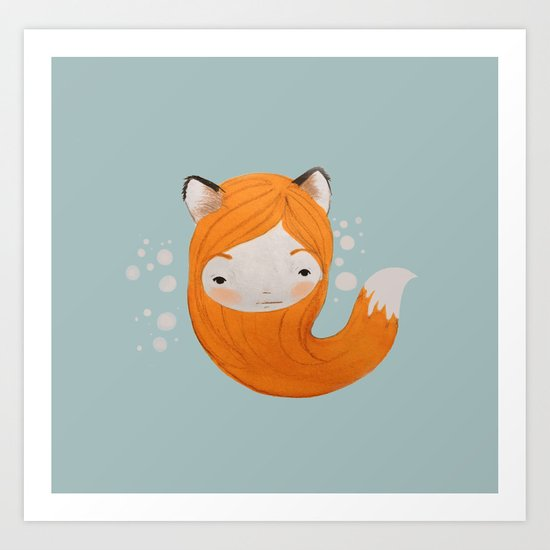 Fox Girl Art Print