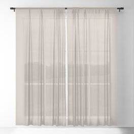 Soft Twill Brown Solid Color Pairs With Behr Paint's 2020 Forecast Trending Color Creamy Mushroom Sheer Curtain