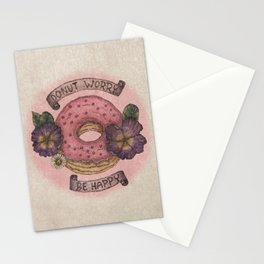 Donut Worry be Happy Stationery Cards