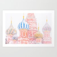 russian Art Prints featuring Russian Winter by digital2real