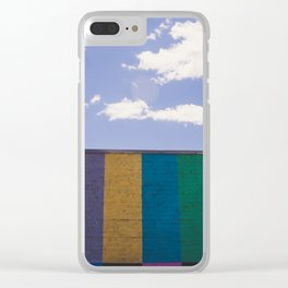 Colored Wall Clear iPhone Case