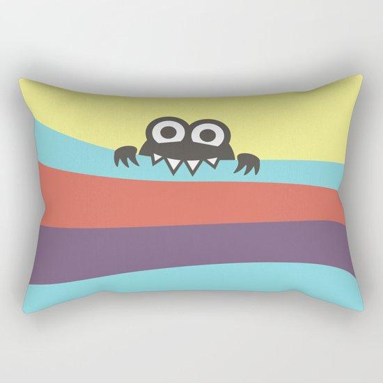 Yummy Colorful Stripes Cute Cartoon Character Rectangular Pillow