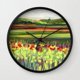 Wildflower Meadow Wall Clock