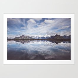 Mountain Lake Reflection - Landscape and Nature Photography Art Print