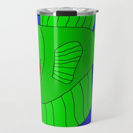 Friendly Green Fish Travel Mug