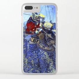 Motocross Dirt-Bike Championship Race Clear iPhone Case
