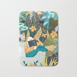 How To Live In The Jungle #illustration #painting Bath Mat