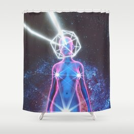 Starry Sky Emoji & Diamond Emoji Shower Curtain