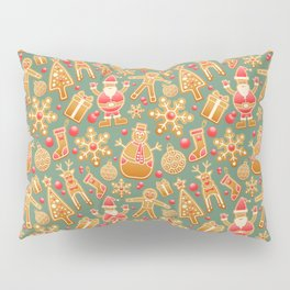 Gingerbread Christmas Pattern (Color) Pillow Sham