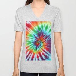 Tie Dye Hippie Unisex V-Neck