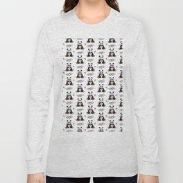Garden Panda Pattern Long Sleeve T-shirt