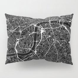 London Black Map Pillow Sham