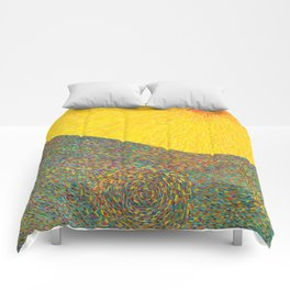 Here Comes the Sun - Van Gogh impressionist abstract Comforters