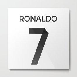 RONALDO 7 Metal Print