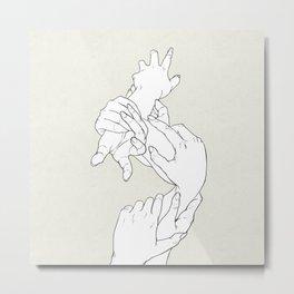 Hand Plant Metal Print