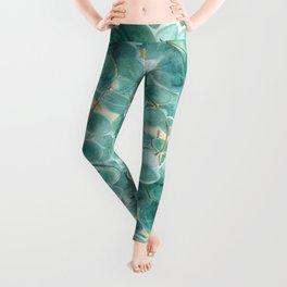 Eucalyptus & Golden Stars Leggings