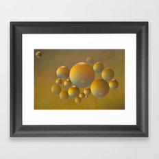 Distant moon. Framed Art Print
