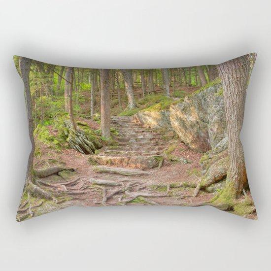 Green Mountain Forest Trail Rectangular Pillow
