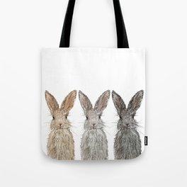 Triple Bunnies Tote Bag