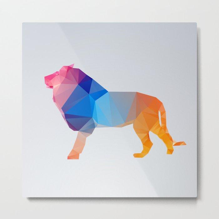 Glass Animal Series - Lion Metal Print