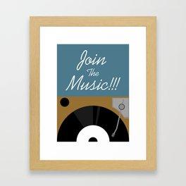 Join The Music Framed Art Print