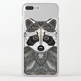 Ornate Raccoon Clear iPhone Case