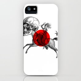 Love is a mad horse iPhone Case