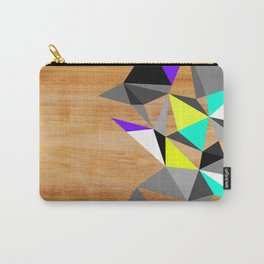 Wooden Geo Neon Carry-All Pouch