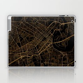 Black and gold Ho Chi Minh map, Vietnam Laptop & iPad Skin