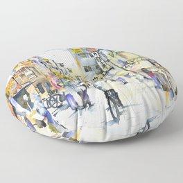 Asakusa street in Japan Floor Pillow