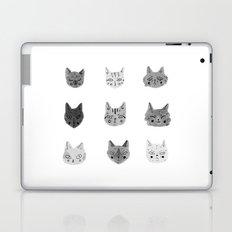 Cat Faces Laptop & iPad Skin