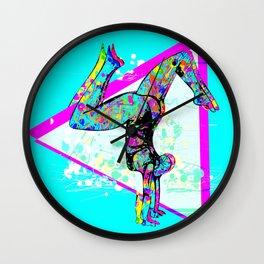 Tri Stand Blue Wall Clock
