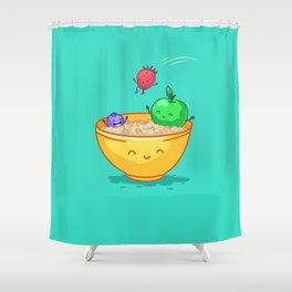 Fruit and oatmeal (Best friends. Character set.) Shower Curtain