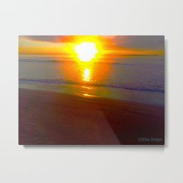 Fiery Dawn over Jervis Bay Metal Print