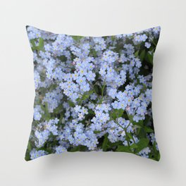 Forget Me Nots Throw Pillow