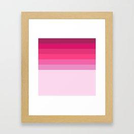 pink induction Framed Art Print