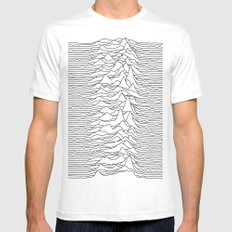 Unknown Pleasures - White MEDIUM White Mens Fitted Tee