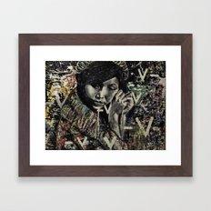 the messing piece Framed Art Print