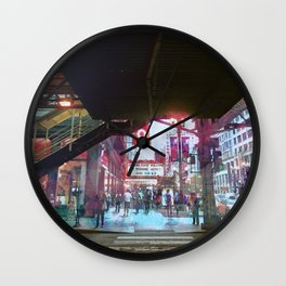 Chicago - State and Lake Wall Clock