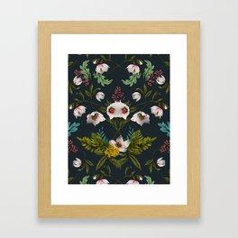 Helleborus Dark Framed Art Print
